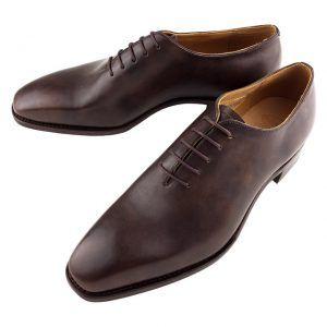 Zapatos de Cuero de Una Pieza